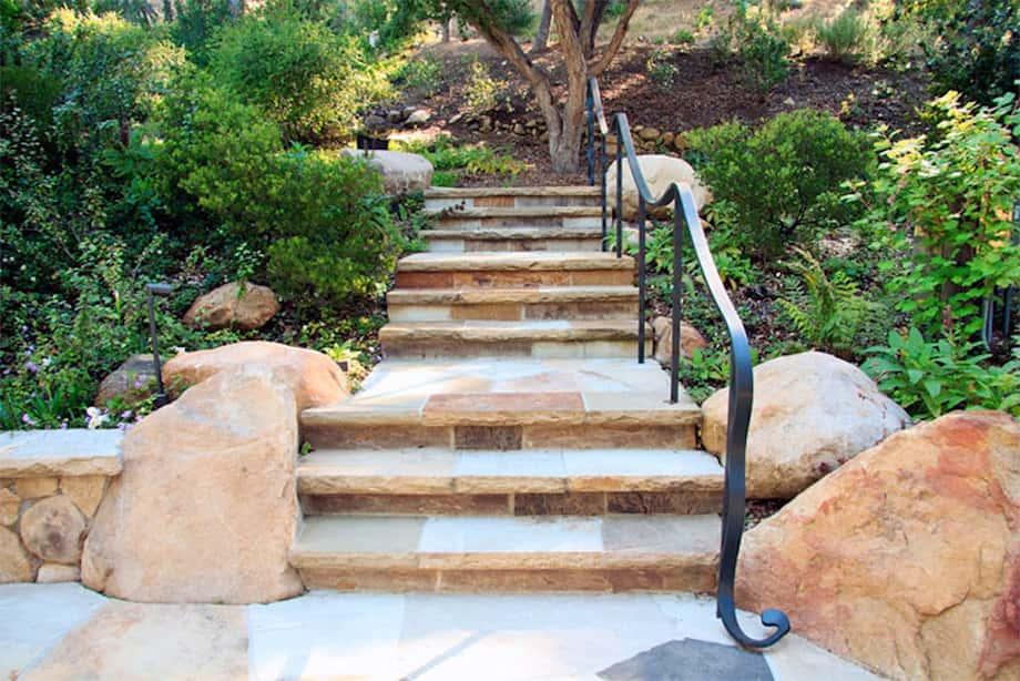 Santa Barbara County Bowl stairs landscaping