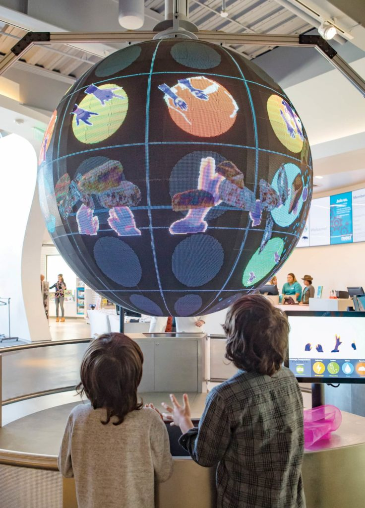 Handpring Globe at MOXI