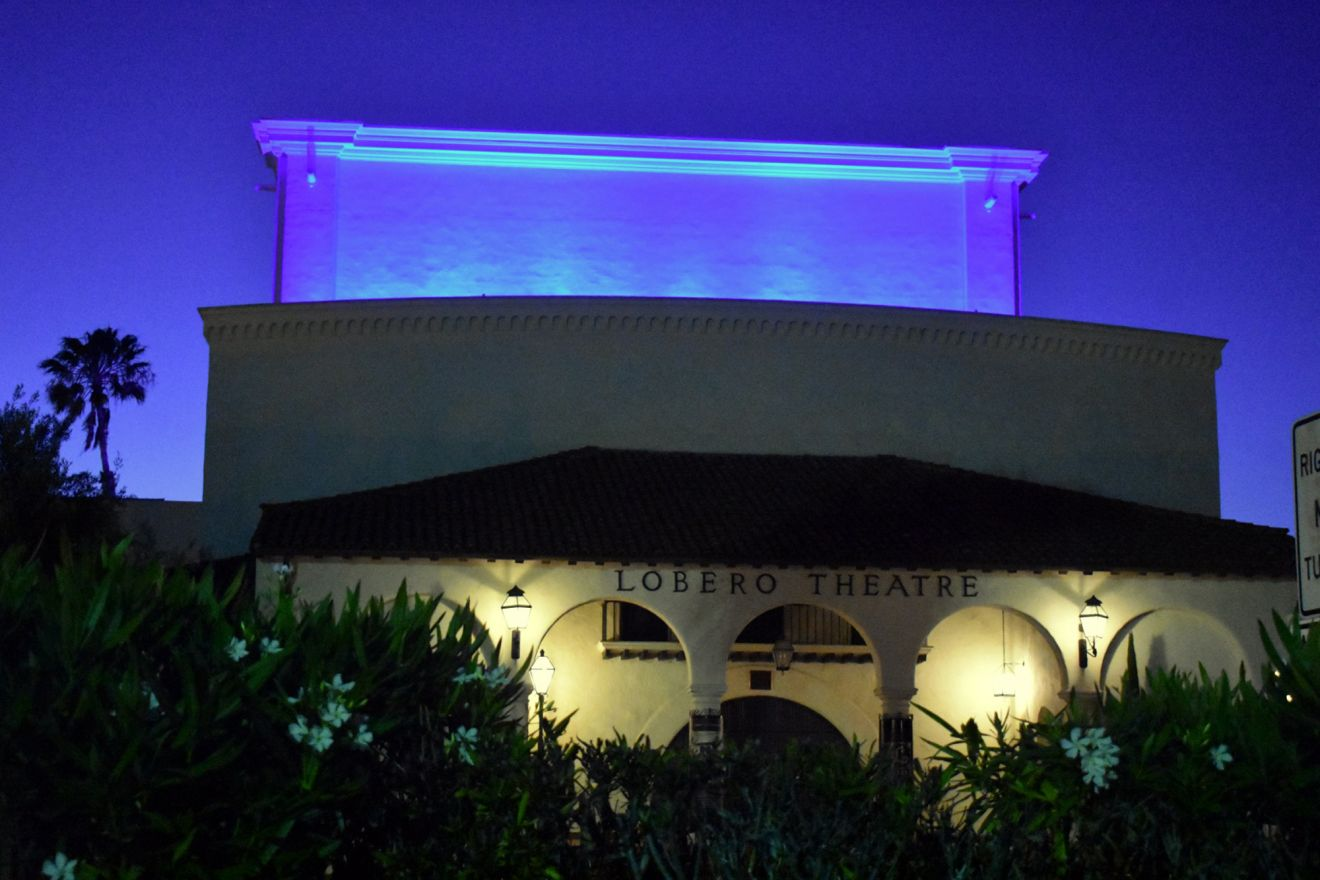 Light It Blue - Lobero Theatre - Santa Barbara - Covid